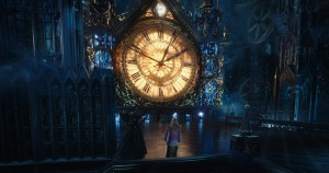 Alice (Mia Wasikowska) returns to Underland and meets Time (Sacha Baron Cohen) in Disney's ALICE THROUGH THE LOOKING GLASS.